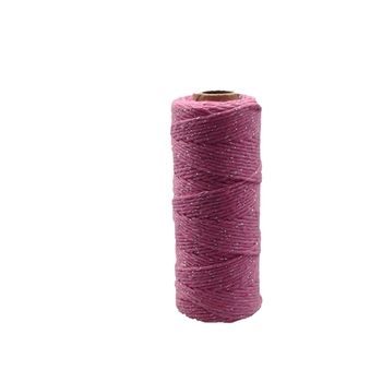 12ply Bakers Twine - Pink with Silver Metalic Thread