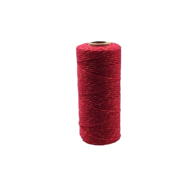 12ply Bakers Twine - Red with Gold Metalic Thread