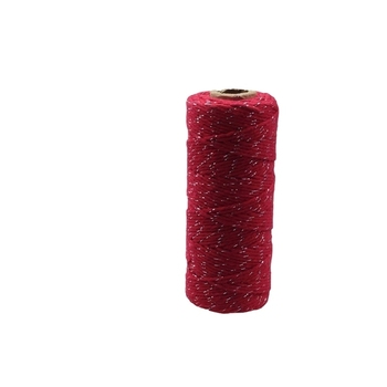12ply Bakers Twine - Red with Silver Metalic Thread