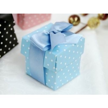Favor Box - 2pc - 50pk  - Blue Polka Dot