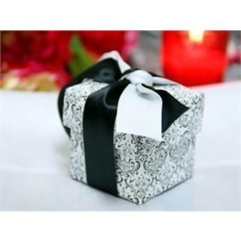 Favor Box - 2pc - 50pk  - Flocking Damask