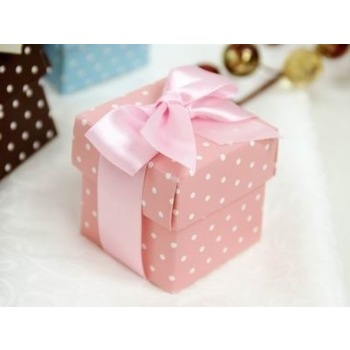 Favor Box - 2pc - 50pk  - Pink Polko Dot