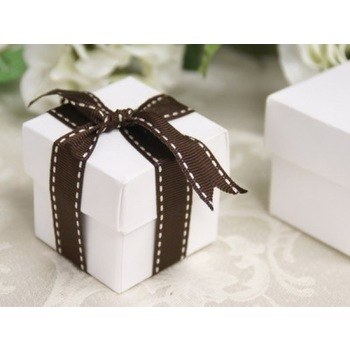 Favor Box - 2pc - 50pk  - White