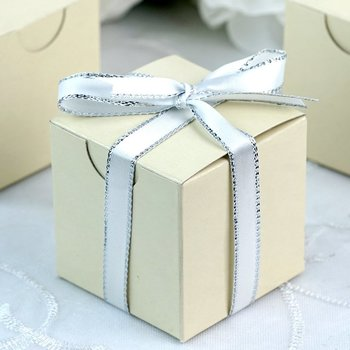 Favor Box - 2x2 Cube - 50pc - Ivory