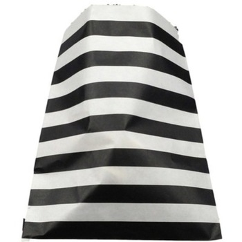 24Pk Black horizontal Stripe Lolly Bags