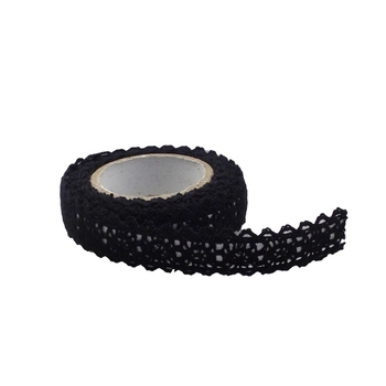 15mm Black Crochet Tape - 1.8m