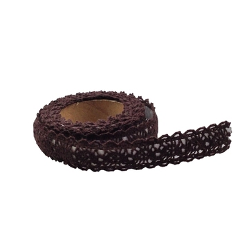 15mm Chocolate Crochet Tape - 1.8m