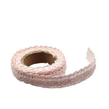15mm Light Pink Crochet Tape - 1.8m