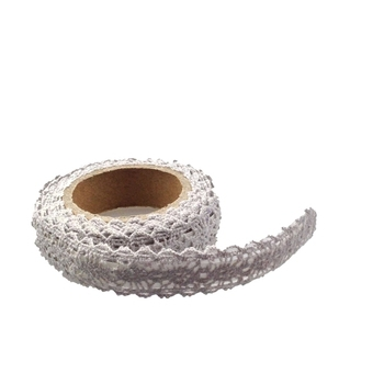 15mm White Crochet Tape - 1.8m