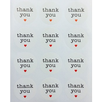 10 x Thank you Sticker