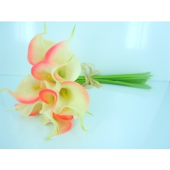 Calla Lily bouquet Mini - 14 inch- Pink/Cream