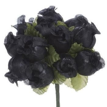POLY ROSE  - Black - 144/pk