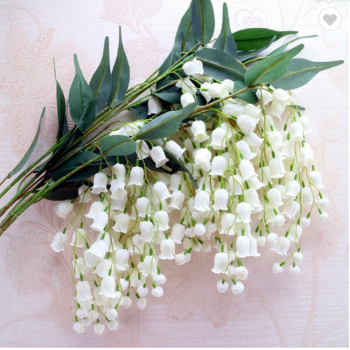 80cm White Hanging Lily of the Valley Stems