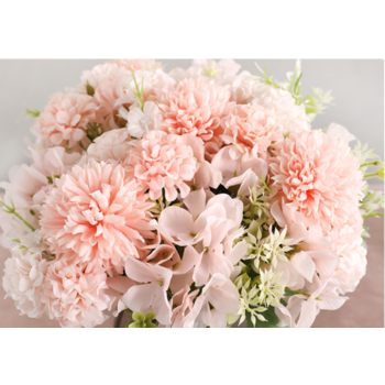 Peach Mixed Hydrangea/Carnation - Filler Bunch