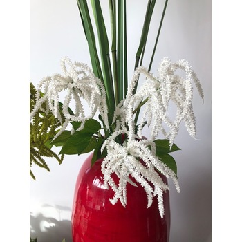 55cm White Weeping Head Flower Stem