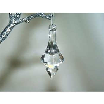 70mm Clear Acrylic Hanging Pendant - 500gms