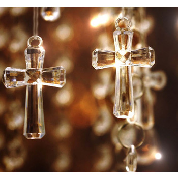 Clear Acrylic Cross Hanging / Table Scatters