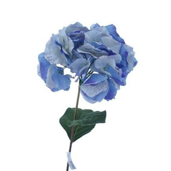 Hydrangea Spray w/5 Lvs 32inch - Real Touch - Blue