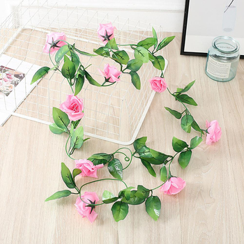 2.3m Rose Garland Dark Pink
