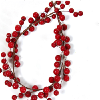 90cm Red large berry Garland
