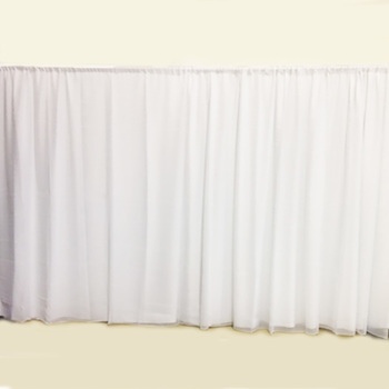3m White Polyester & Sheer Backdrop Curtain