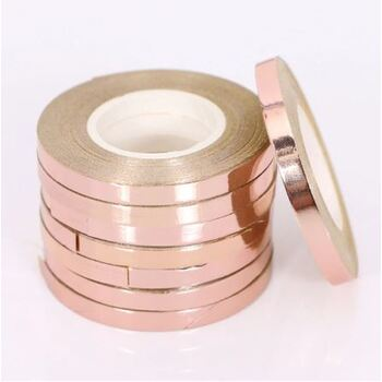 5mm Rose Gold Foil Balloon Curling Ribbon - 10m