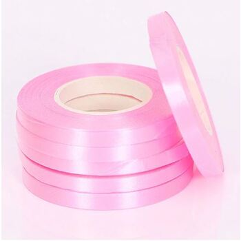 5mm Pink Foil Balloon Curling Ribbon - 10m