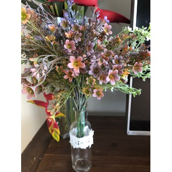30cm Dusty Coffee/Autumn Tones Flower Filler Bunch