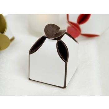 50pk Two Tone Favor Box  - Chocolate