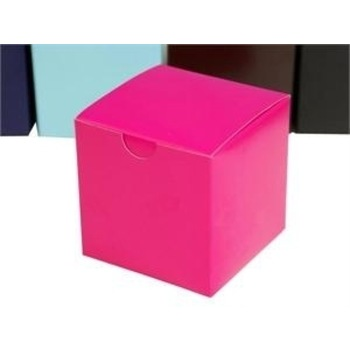 50pk 7.5cm Favor Box - Fushia - Cup Cake Box