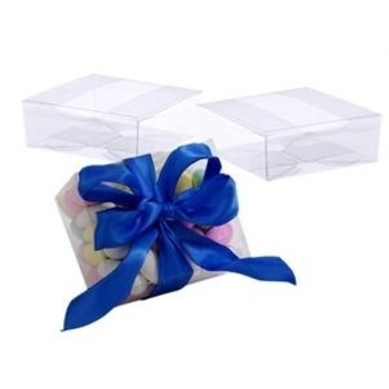 25pk - 4x4x2inch Side Opening Cookie Box Clear