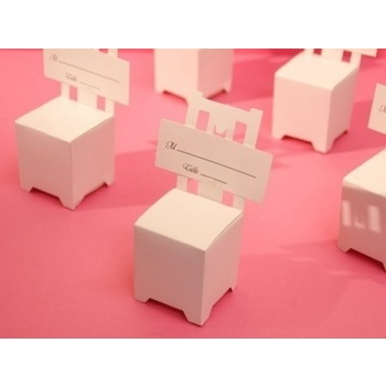 50pk White Chair Favor Box