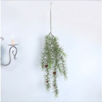 88cm Pine Leaf Spray/Trailing - With Pine Cones