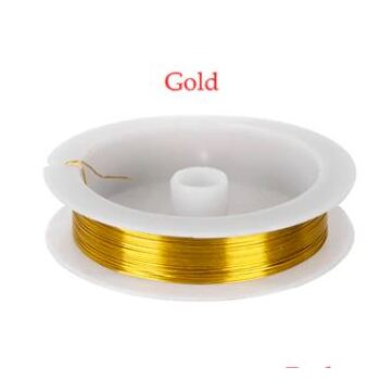 0.5mm Florist/Craft Wire 40m - Gold