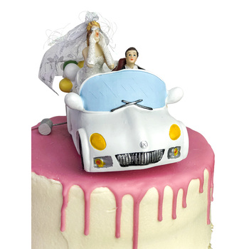 Cake Topper - Just Married Car
