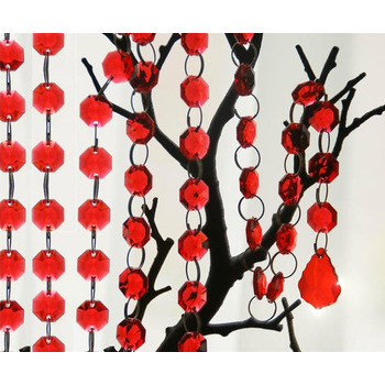 Acrylic Chain - Red 90cm