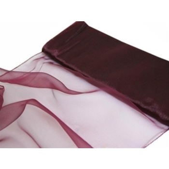 Nylon Chiffon Fabric 12 inch x 10 Yards - Burgundy