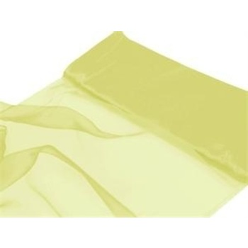 Nylon Chiffon Fabric  12 inch x 10 Yards - Yellow