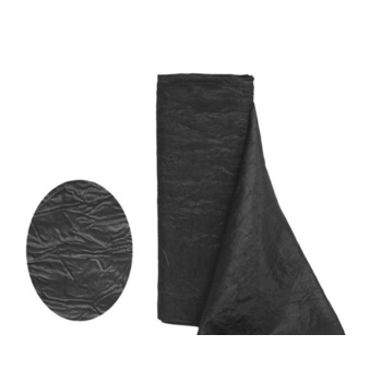 Crinkle Taffeta Fabric Bolt 12 inch x 10Yards - Black