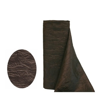 Crinkle Taffeta Fabric Bolt 12 inchx 10Yards - Chocolate