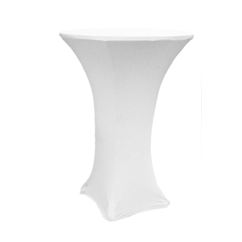 Dry Bar Cover 600mm (4 footed) - Fitted Lycra - White