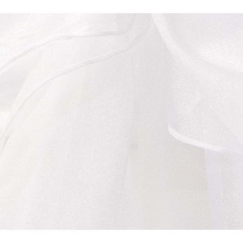 73cmx25m Organza Draping Fabric- White