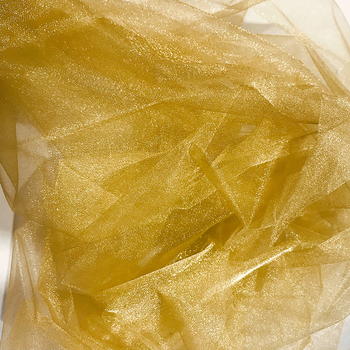 73cmx25m Organza Draping Fabric- Antique Gold