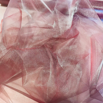 73cmx25m Organza Draping Fabric - Sand Chocolate