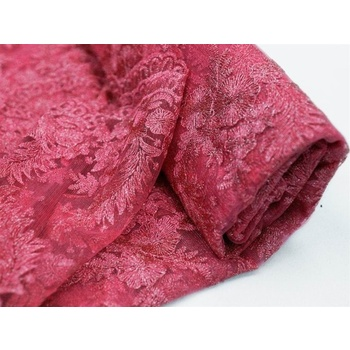 Luxury Embroidered Tulle Fushia - 54inch x 4 yards