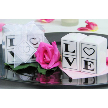 Salt & Pepper Shaker Favor - LOVE