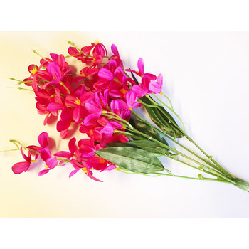 Small Flower Orchid Bunch - Fushia