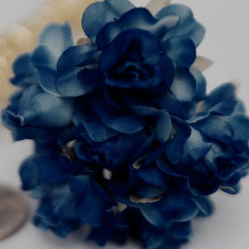 72 x Semi-Bloomed Craft Roses - Navy