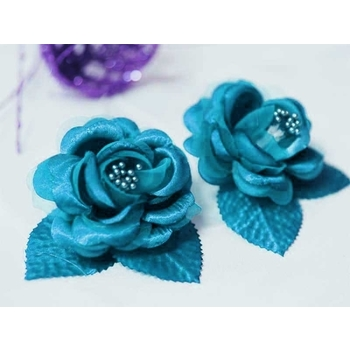 12 ACCENT Bellissimo Craft Roses - Turquoise