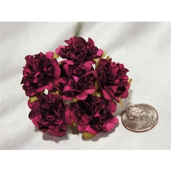 72 x Paper Craft Carnations - Burgundy
